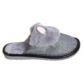 Bona Svjetlucave papuče s oštećenjima siva