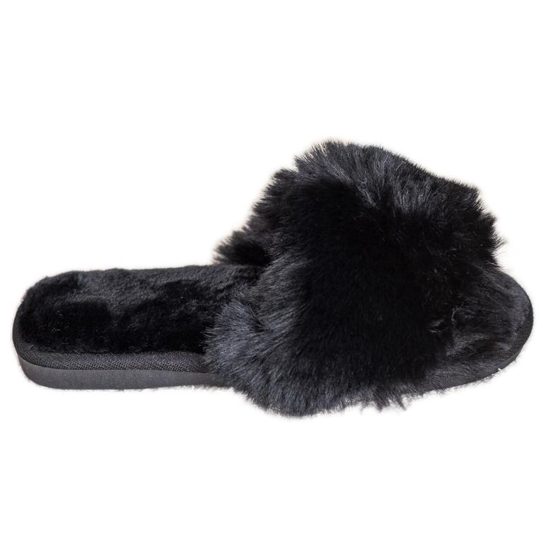 Bona Modne crne papuče crna
