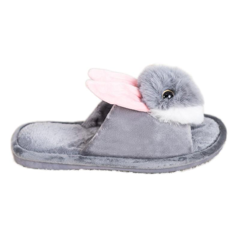 Bona Papuče zeka siva