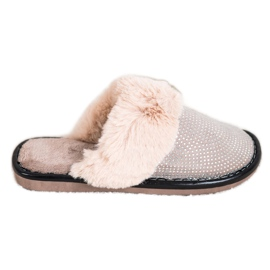 Bona Udobne papuče s krznom bež