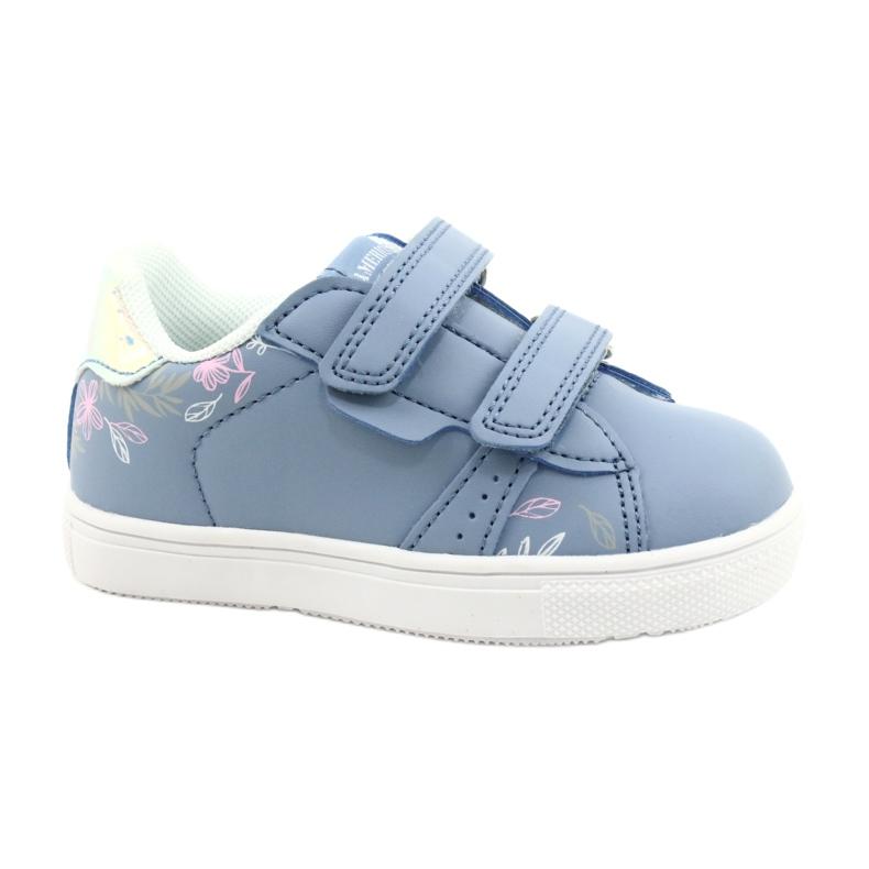 American Club Cipele na čičak ES22 / 21 plava srebro