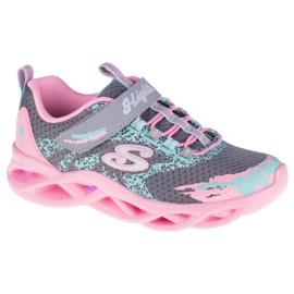Skechers Twisty Brights W 302301L-GYPK Cipele ružičasta siva