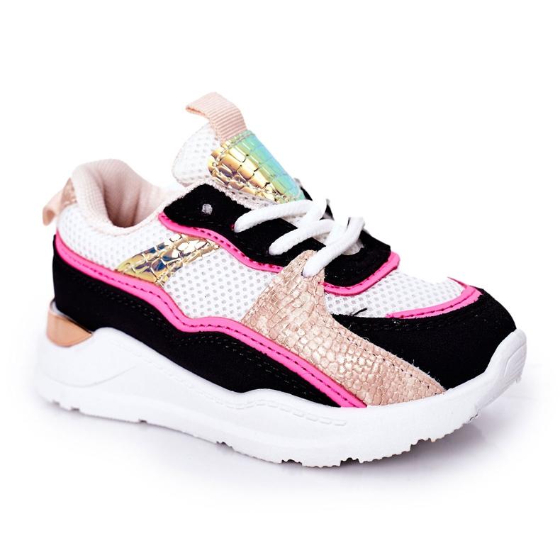 Dječje sportske cipele Tenisice Neon Pink Game Time bijela crno ružičasta