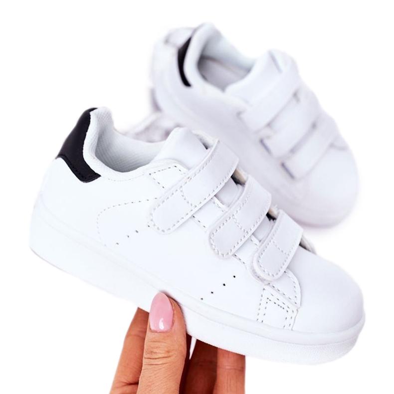 FR1 Dječje sportske cipele s čičak crno -bijelim Fifi bijela