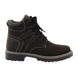 Fekete Cipők téli trappets Naszbut 831