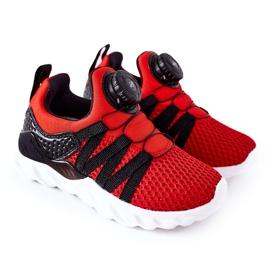 Dječje sportske cipele s ABCKIDS -om Crveni gumb crno crvena