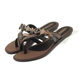 Ipanema smeđ Flip flops ženske cipele s kamenjem Grendha