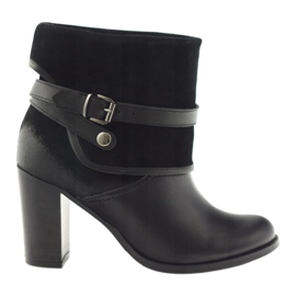 Crne klasične ženske cipele zimske čizme Edeo 1754 crna