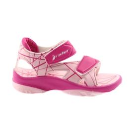 Roze Ružičaste cipele za djecu od čičak na vodi Rider 488