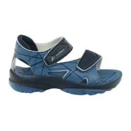 Plave sandale dječje cipele od čičak na vodi Rider