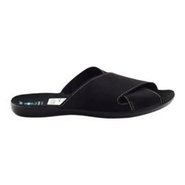 Muške papuče Adanex 20310 crne crna