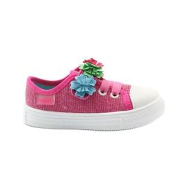 Papuče tenisice Befado cvijeće ružičasta