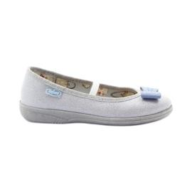 Dječje papuče Befado 346x022 luk siva plava