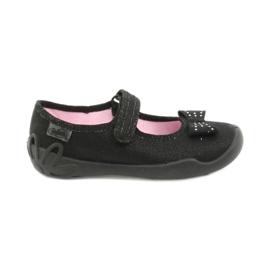 Befado dječje cipele balerinke papuče 114x240 crno srebro