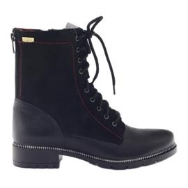 Čizme ženske čizme Kazkobut 2809 crne