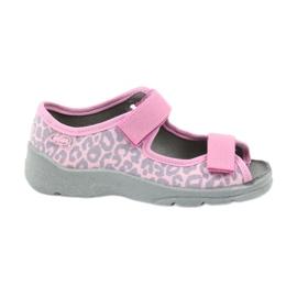 Befado dječje cipele sandale papuče 969x092 ružičasta siva