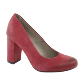 Klasične damske cipele Edeo 2119 bordo