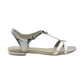 Ženske sandale EDEO wz.3087 srebrne siva