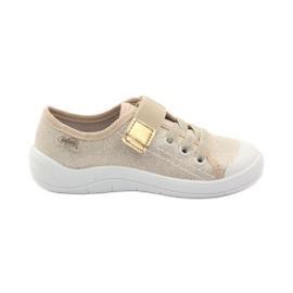 Cipele za papuče za djevojčice Befado 251x071 zlato žuta boja bijela