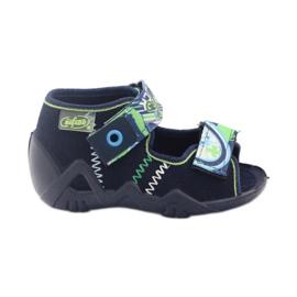 Befado dječje cipele sandale sandale 250p058 mornarsko plava zelena