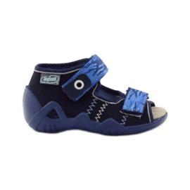 Sandale Befado 250p od kože mornarsko plava plava