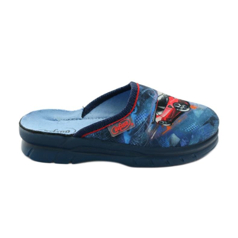 Papuče flip car Befado 708y001 gr mornarsko plava crvena plava