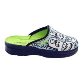 Befado dječje cipele za bojanje papuče bijela mornarsko plava plava
