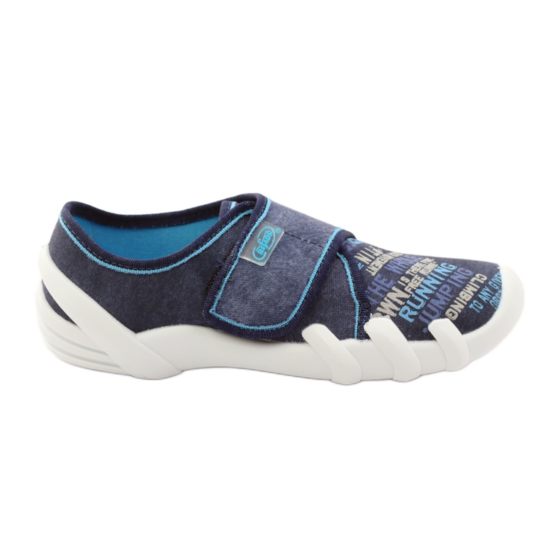Papuče za uloške Soft-B Befado 273y214 mornarsko plava plava
