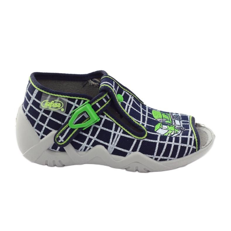 Papuče za dječje cipele Befado 217p087 mornarsko plava zelena