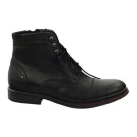 Crna Zimske čizme s Pilpol 6009 zip crne