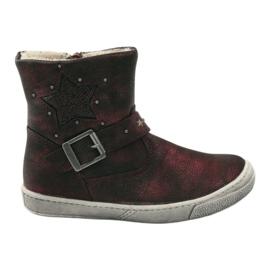 American Club Zimske čizme od maroona s američkim patentnim zatvaračem