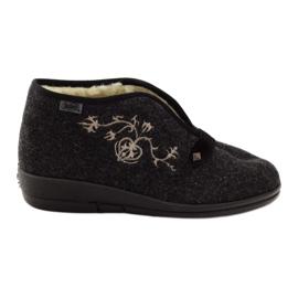 Papuče za ženske cipele Befado s krznom 031d028 siva