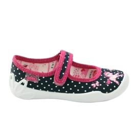 Papuče za dječje cipele Befado 114x253 mornarsko plava ružičasta bijela