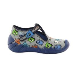 Papuče dječaci Befado 110p308 siva plava