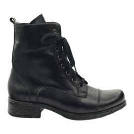Čizme s patentnim zatvaračem Angello 2060 crne crna