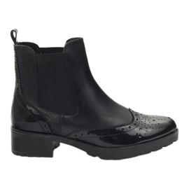 Caprice čizme čizme Jodhpur čizme 25405 crna