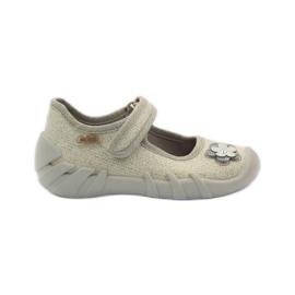 Befado dječje cipele balerinke papuče 109p163 smeđa siva žuta boja