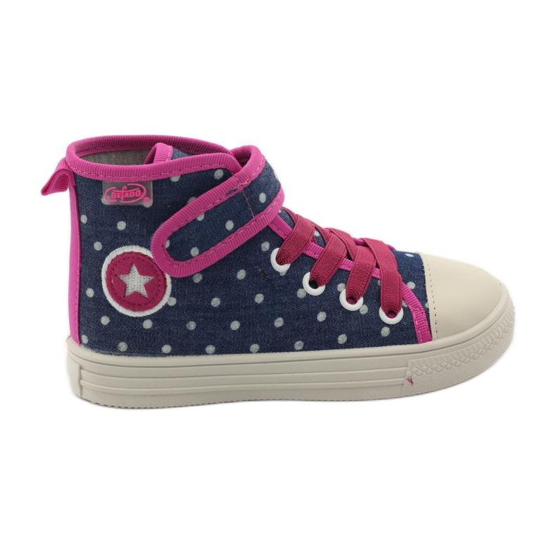 Befado dječje cipele tenisice papuče 426x002 mornarsko plava ružičasta bijela