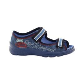 Plave sandale Befado 969x129 mornarsko plava crvena plava