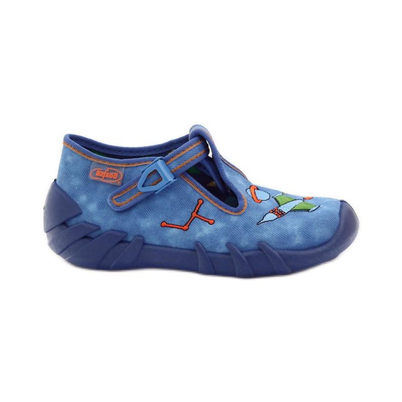 Papuče za dječje cipele Befado 110p315 zelena naranča plava
