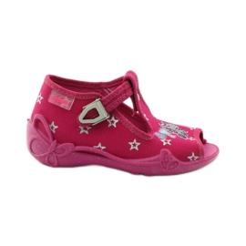 Befado dječje papuče 213p102 ružičasta siva