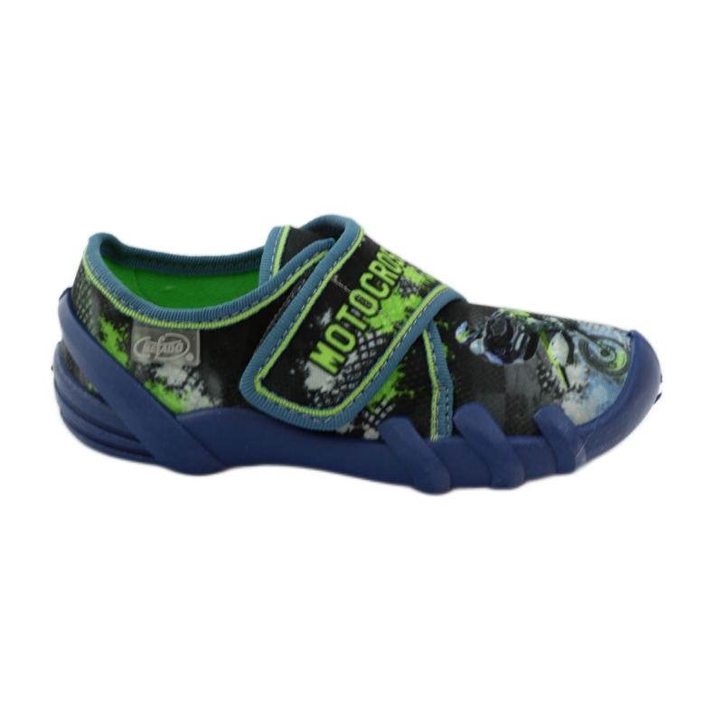Dječačke papuče Befado 273y226 motocross mornarsko plava zelena