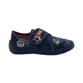 Papuče Super lagano dno automobila Befado mornarsko plava naranča