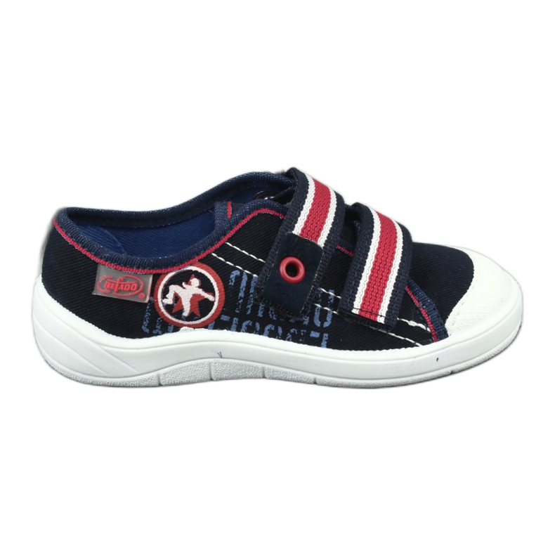 Dječje papuče Befado 672x058 bijela crvena mornarsko plava