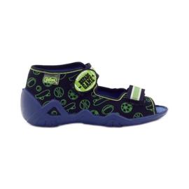 Befado dječje cipele sandale 250p070 papuče mornarsko plava zelena