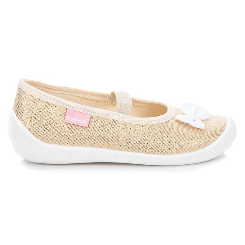 Reweks Zlatne papuče na elastičnom pojasu zlatna