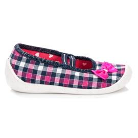 Reweks Cipele za djevojčice u kariranim bojama ružičasta