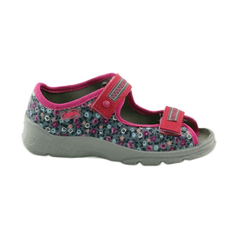 Dječje sandale pojas Befado 969x119 mornarsko plava ružičasta siva