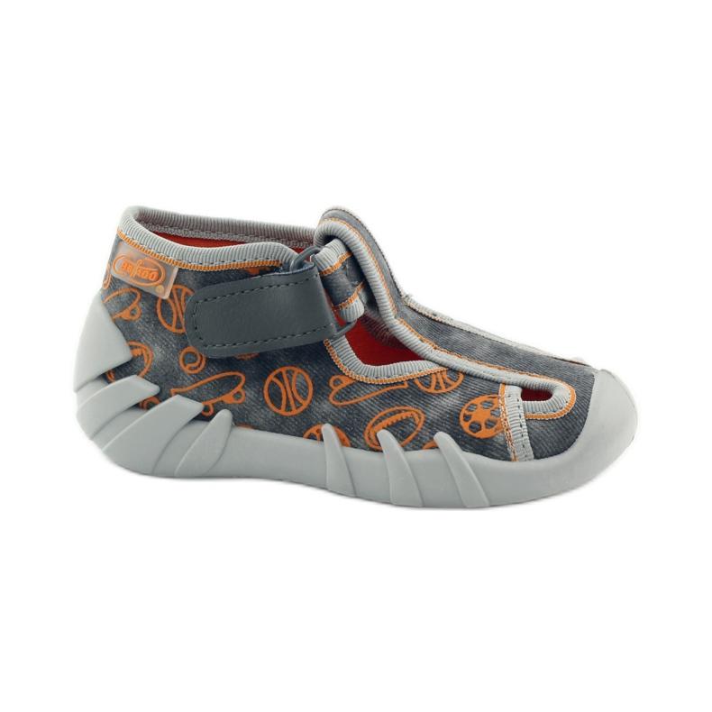 Befado dječje cipele 190p082 papuče siva naranča
