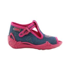 Papuče Befado 213p101 sa srcem mornarsko plava ružičasta